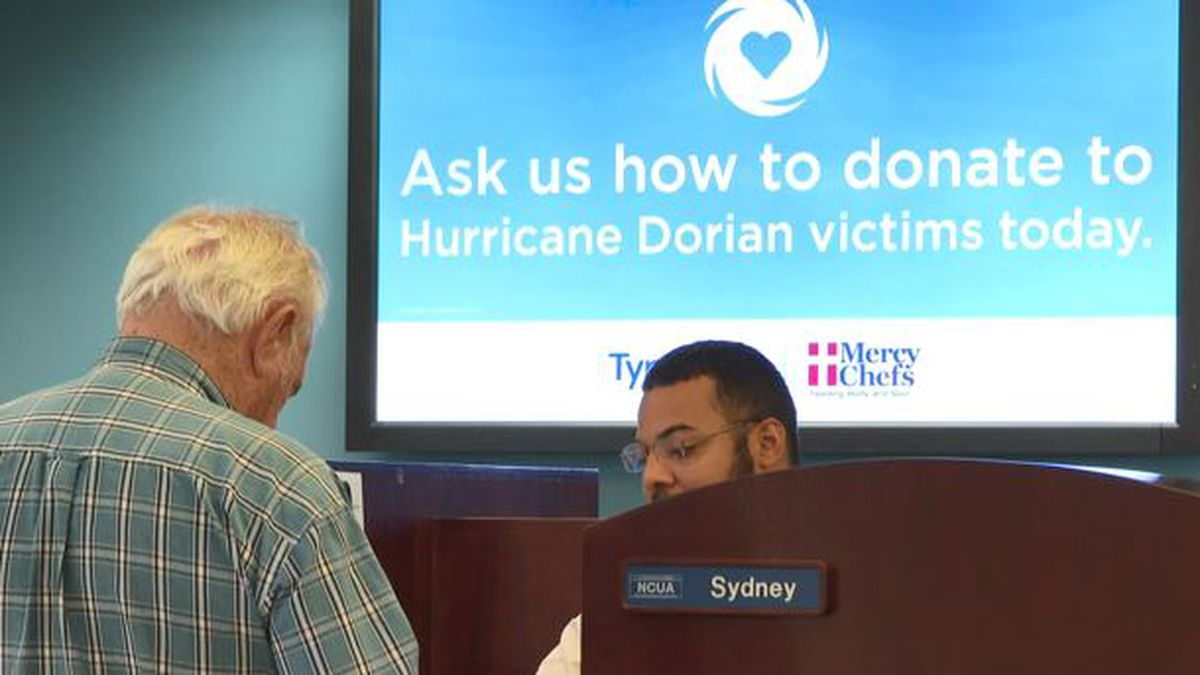 You can donate to help Hurricane Dorian victims through Mercy Chefs at any Tyndall Federal Credit Union branch. (WJHG/WECP)