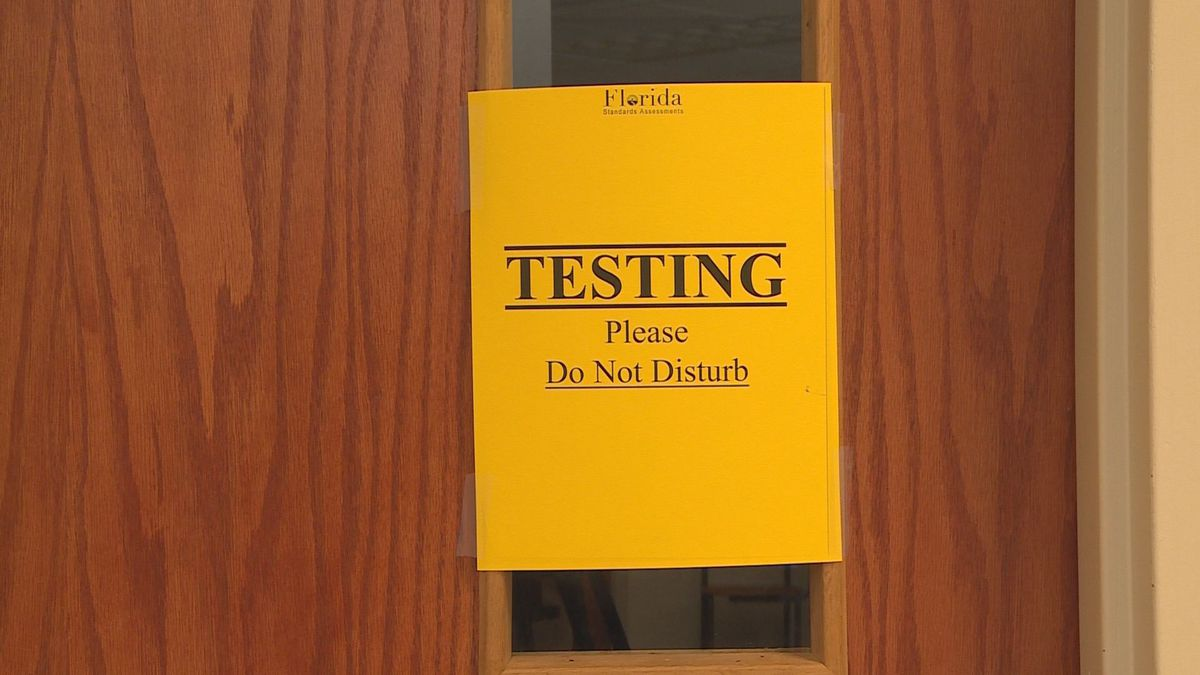 This image shows a picture of a testing sign. (WJHG/Station)