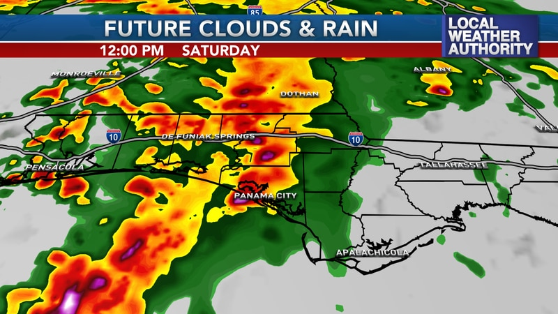 Heavy rain and isolated severe storms will be possible.