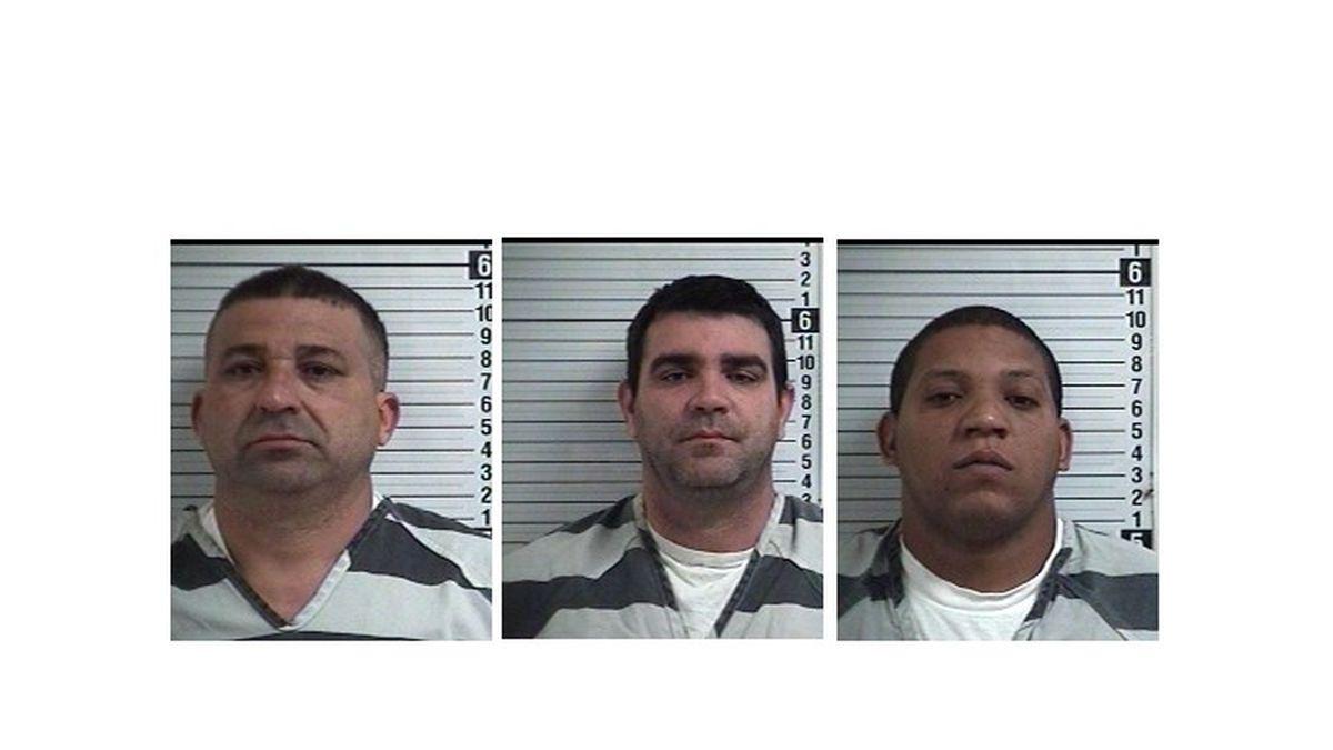 Three men were arrested for allegedly skimming credit card information.