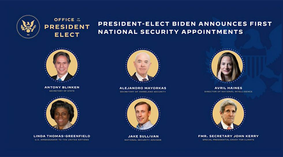 The Biden-Harris team announced key appointments on Monday.