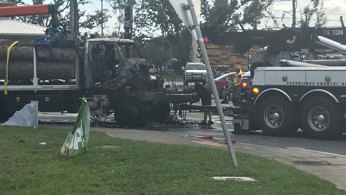 A local man is thankful to be alive after escaping his truck which caught on fire on Wednesday. (WJHG/WECP)