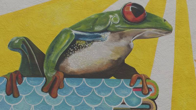 Heather Powell added a mural representing nature, animals, and people of small towns.