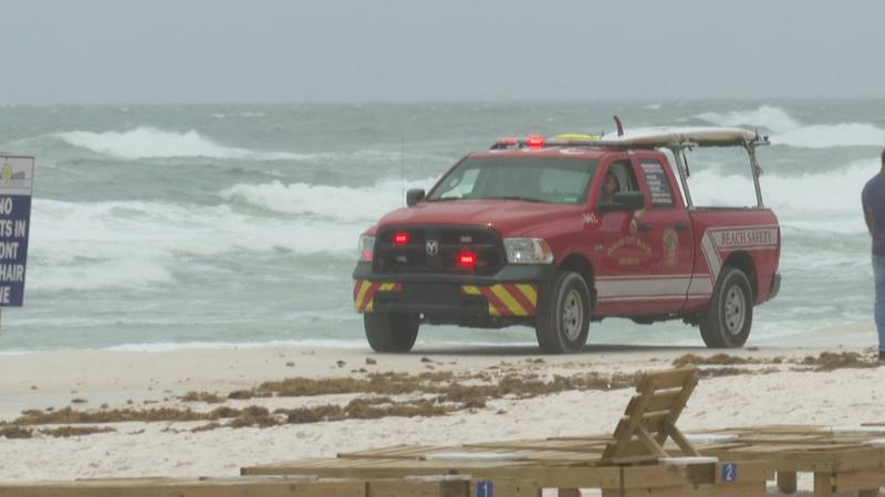 With double red flags flying, Panama City Beach Fire Rescue is making sure everyone stays on...