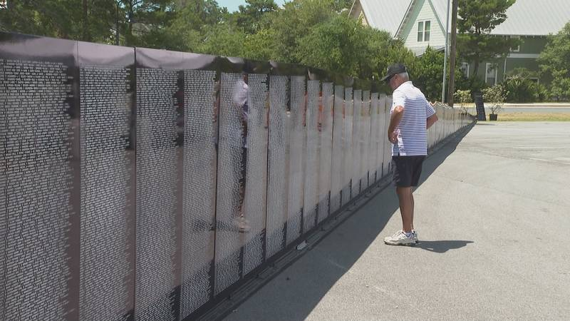 The Vietnam Memorial Wall is on display this weekend in South Walton.