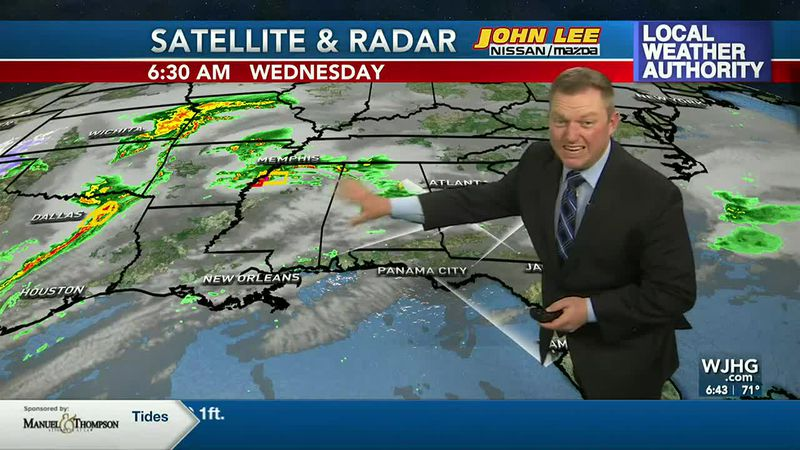 Meteorologist Ryan Michaels says severe weather will break out to our northwest today.