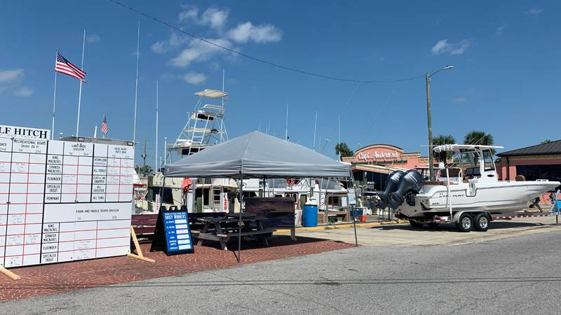 The 17-day tournament kicked off Friday at Captain Anderson's Marina.
