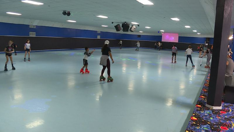 Skaters enjoying their time on the rink at Rollerworld of Crestview.