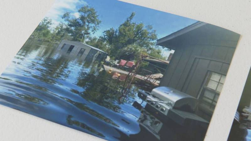 Flooding at a home near Bear Creek.