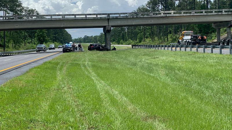 One person is dead and two people are seriously injured after a crash on Interstate 10 in...
