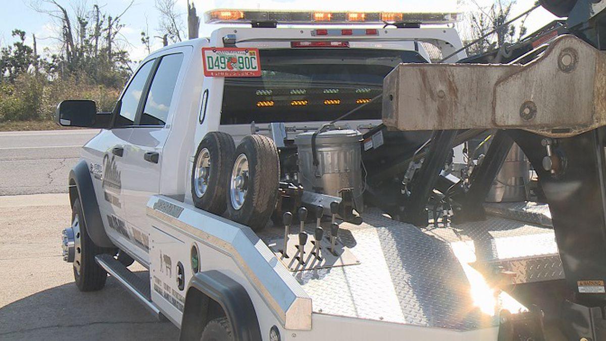 White's Wrecker Service tow truck. (WJHG)