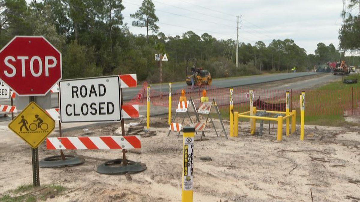 Construction on CR 30A could be finished by early March. (WJHG/WECP)