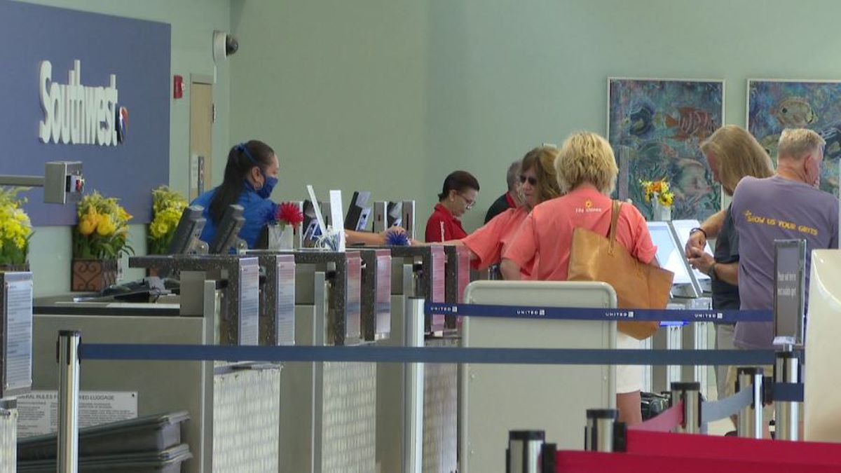 Board members gathered at Northwest Florida Beaches International Airport for their monthly...