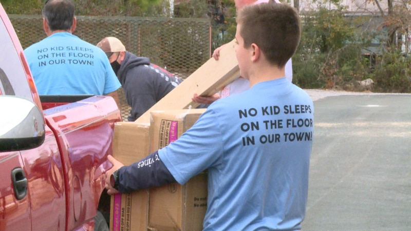 Sleep in Heavenly Peace gives away 90 twin bunk beds to kids in need.