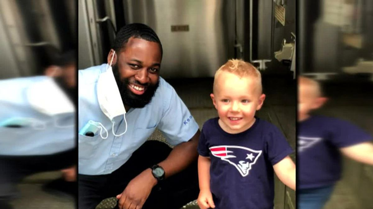 A 3-year-old and a train conductor in Massachusetts have become friends after seeing each...