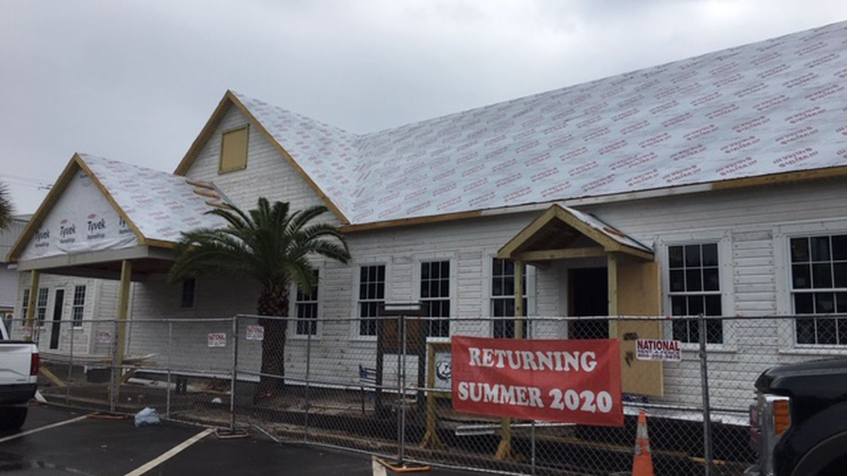 Contractors say The Red Bar should be open by summer. (WJHG/WECP)