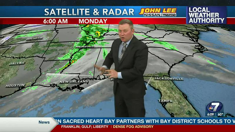 Meteorologist Ryan Michaels says most of the rain today stays to our west.