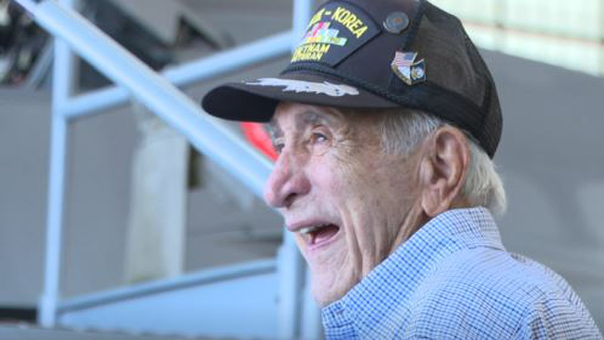 Leaders at Tyndall Air Force Base came together Wednesday to grant a final wish for one veteran...
