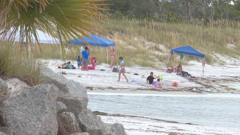 The project ultimately stretches the beaches out, giving locals and visitors more space to...