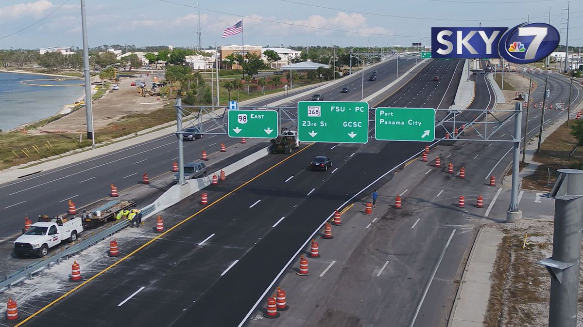 Eastbound portion of the 23rd street flyover is now open. (WJHG/WECP)