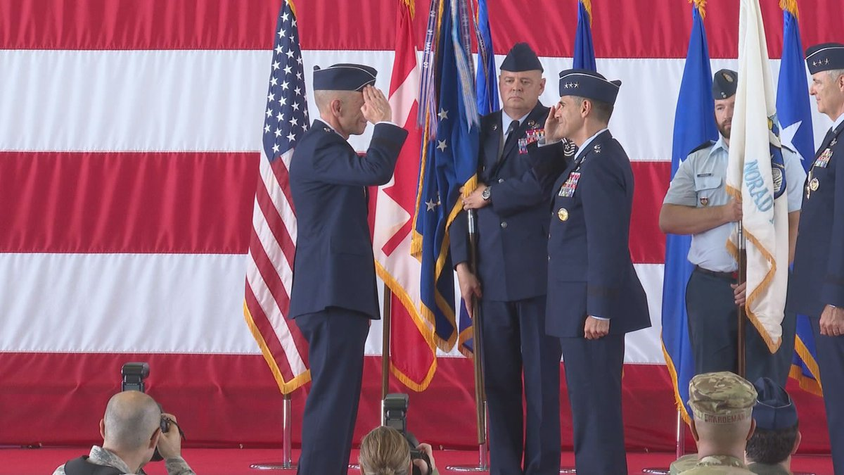 Change of command ceremony at Tyndall AFB, FL.
