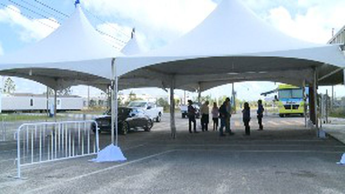The drive through testing site opened on Monday and so far 90 people have been tested for COVID-19. (WJHG/WECP)