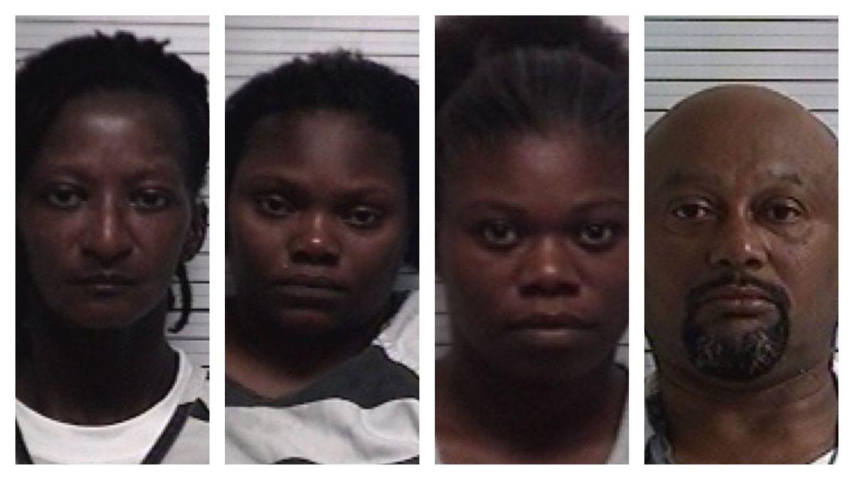 Renatta Mathis, Eric Betties, Antoinette Dawson, and Mary Beach are accused of fraud.