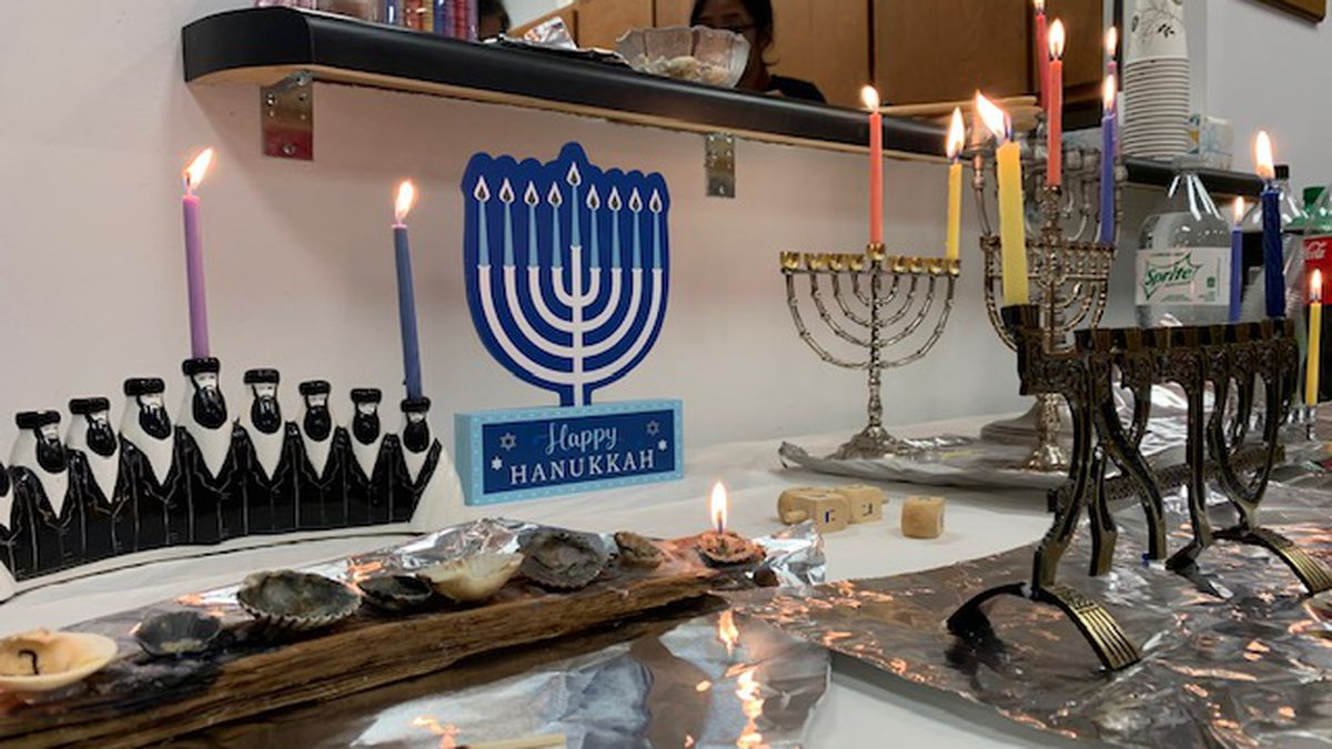Sunday marked the first night of Hanukkah and this year, Temple B'nai Israel is sharing the holiday with the Unity Spiritual Center of Panama City. (WJHG/WECP)