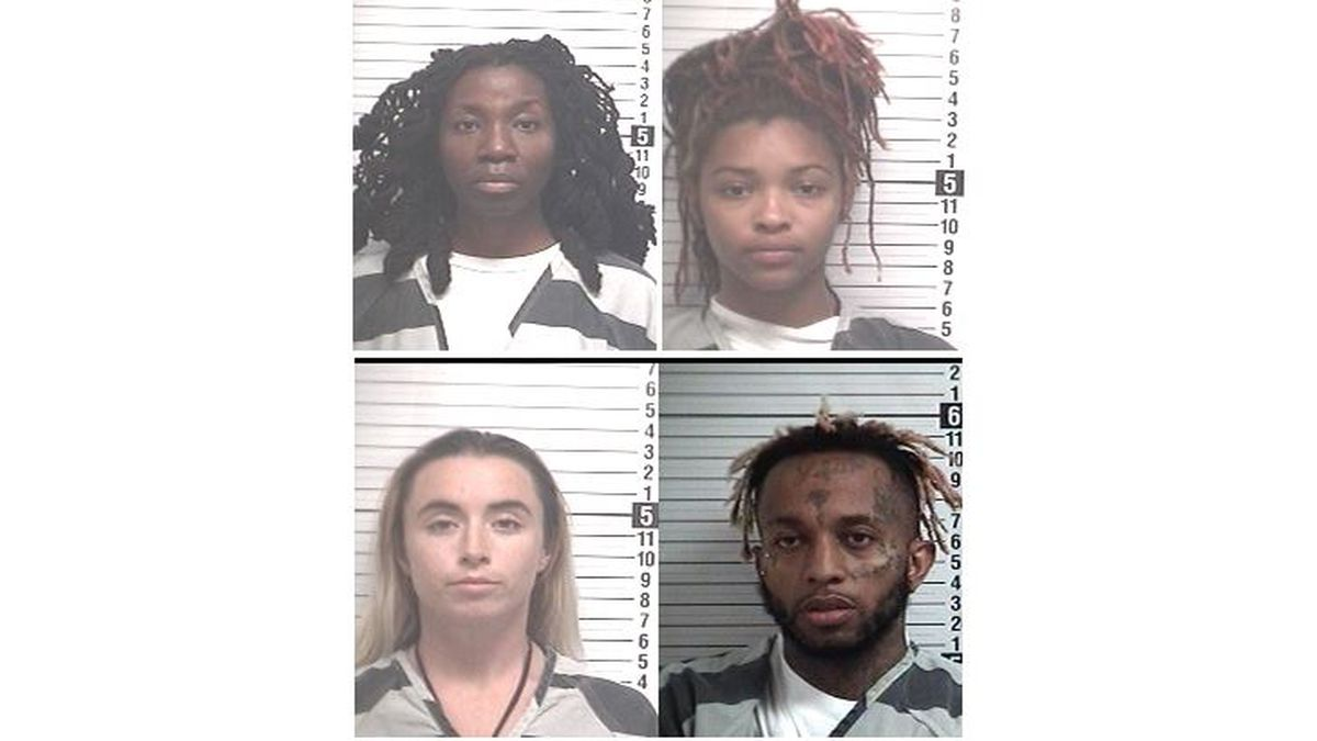 Deputies arrested Ellecia Bryant, 42, Ashayla Lewis, 19, Ourania Moore, 26, and Khary Johnson,...