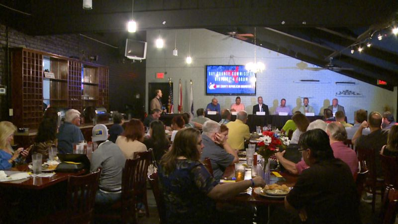 Candidates for Bay County Commission District 4 spoke to locals in a forum Monday.