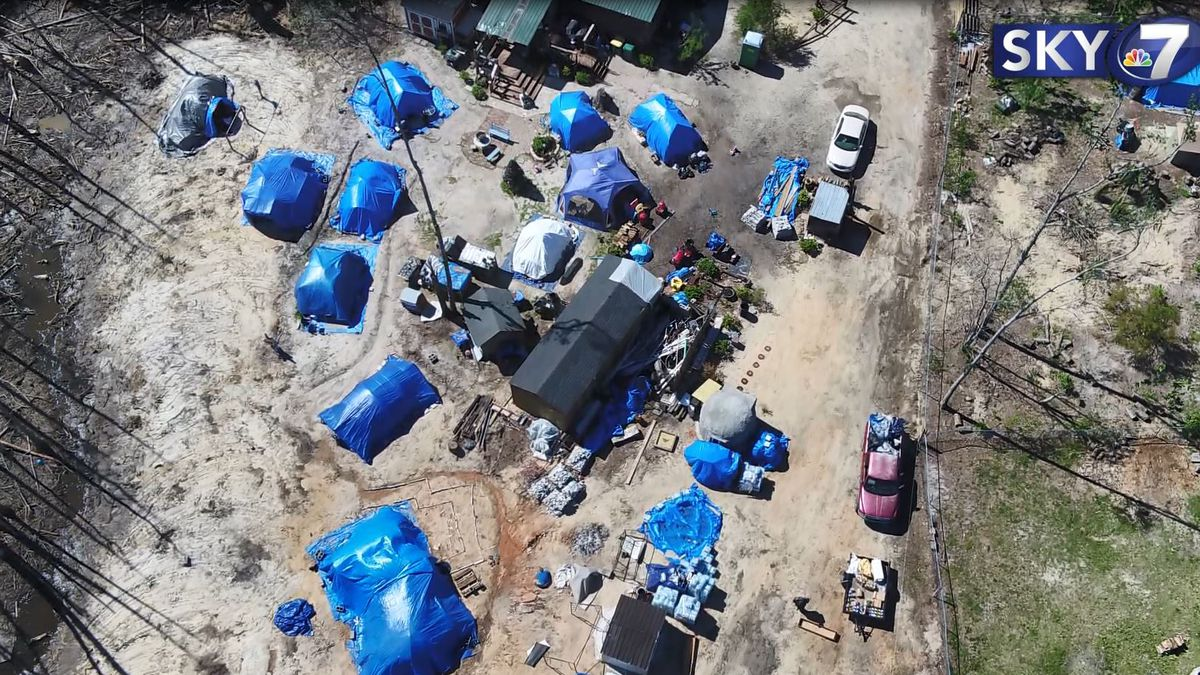 Bay County leaders and the owner of a backyard tent community held their first face-to-face meeting Thursday to discuss long-terms solutions for the tent residents. (WJHG/WECP).