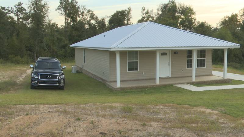 Habitat for Humanity presented this new home to a local family on Thursday.