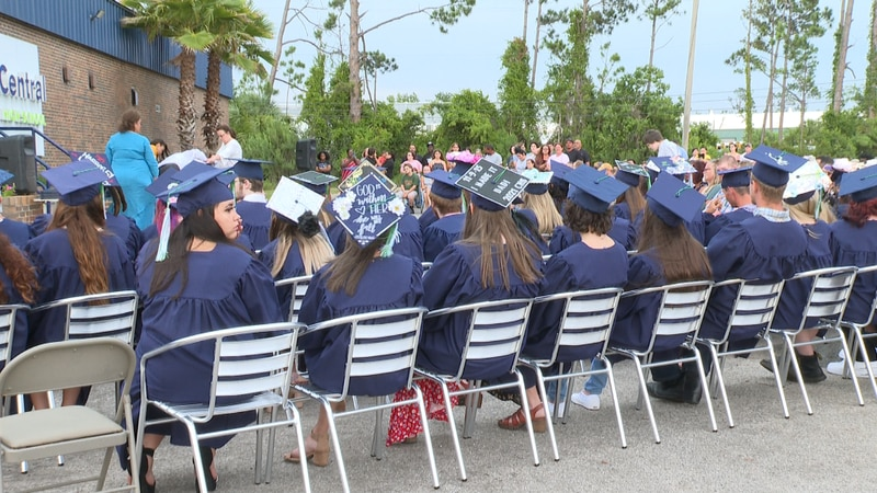 More than 40 students walked across the stage Tuesday night and were handed their diplomas.