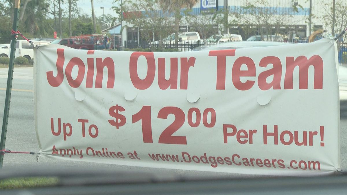 The state's unemployment rate has dropped but many businesses in bay county still have jobs that need to be filled. (WJHG/WECP)