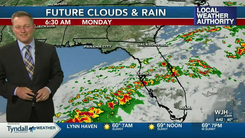 Meteorologist Ryan Michaels says the rain from this past weekend heads toward the Florida...