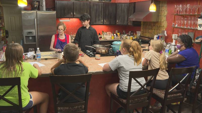 Throughout the summer, Holland has hosted a 'little chef' cooking camp where she shows kids how...