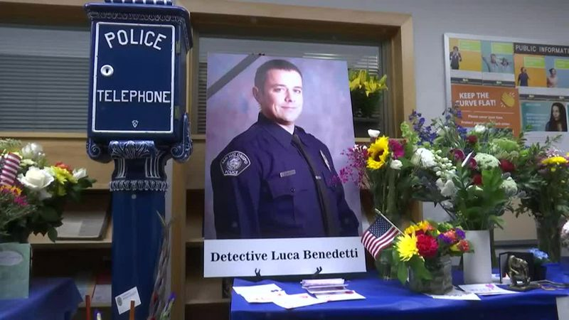 One police officer was killed and another was wounded while serving a search warrant at an...