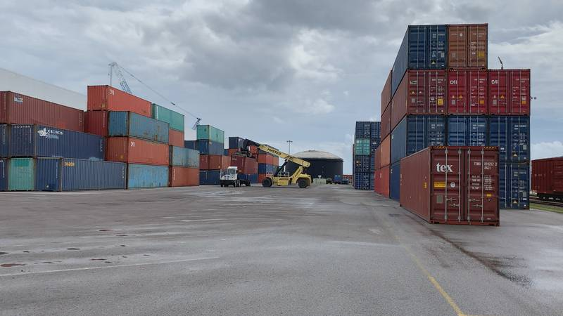 We're told they see almost two million tons of cargo come in and out of the port a year.