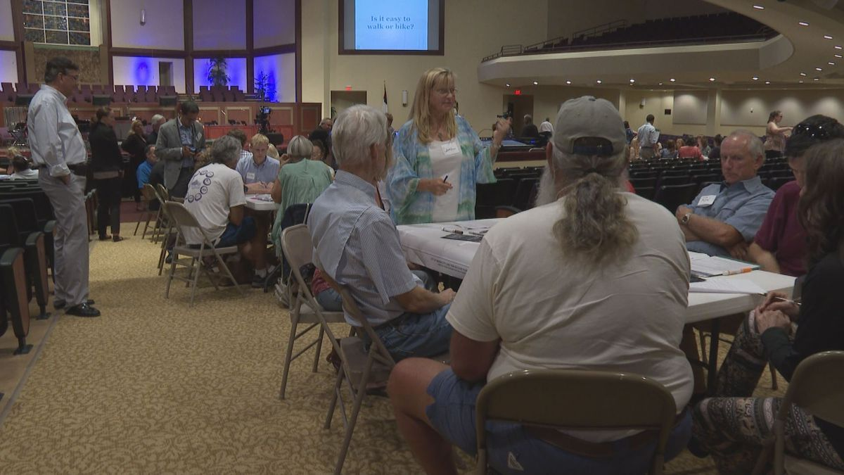 Locals working in groups to come up with plans to help Downtown Panama City recover from...