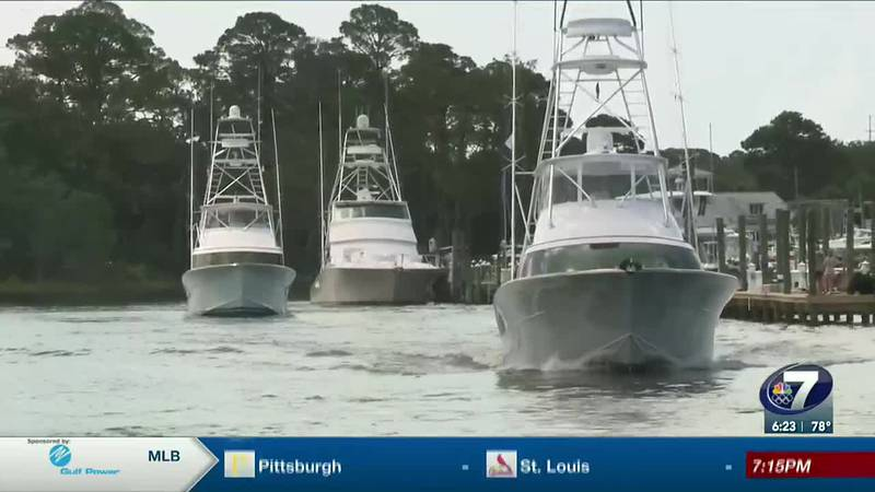 Crews get underway for the Emerald Coast Blue Marlin Classic.