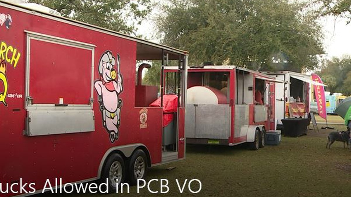 Food trucks like these could soon become more popular in Panama City Beach. (WJHG/WECP)