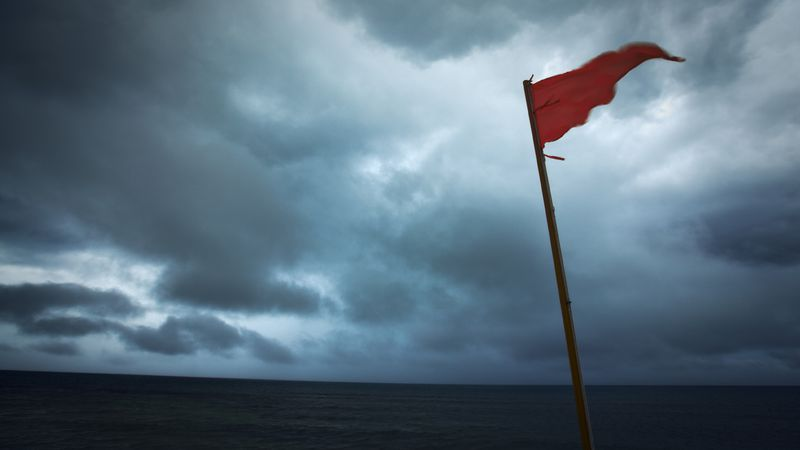 Franklin County officials warn of the dangers of going in the water when it is a red flag