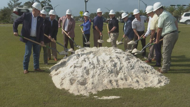 Friday, officials broke ground on the Highway 98 Underpass in Inlet Beach.