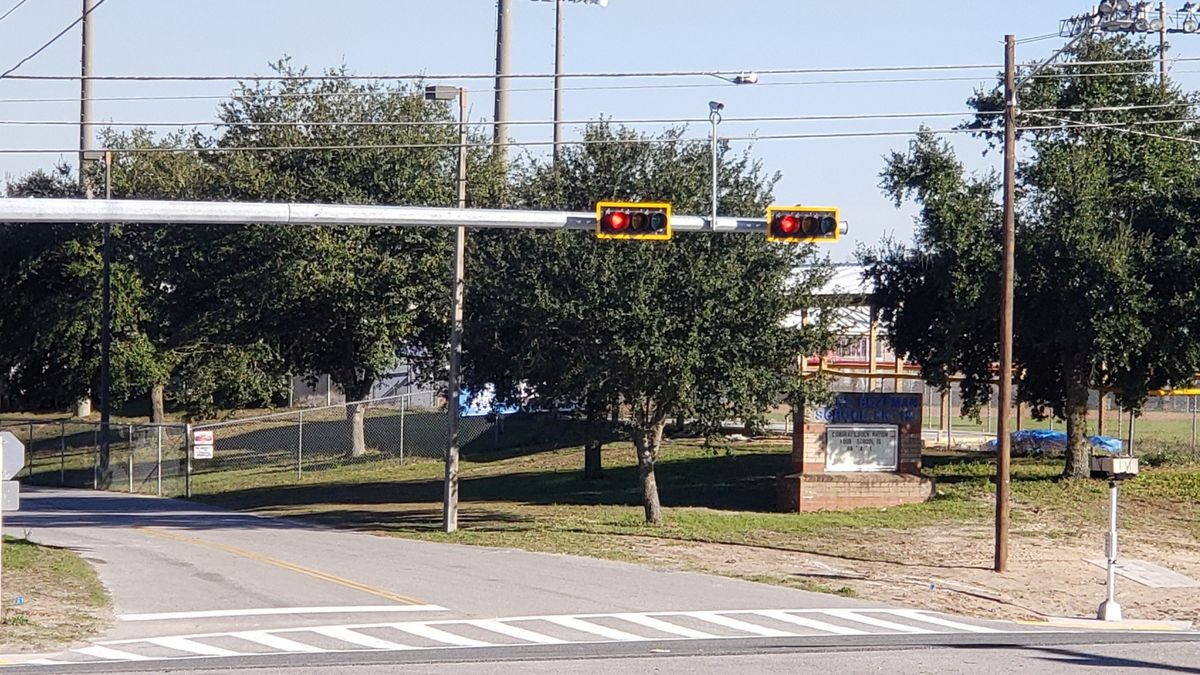 The light on Highway 77 and Deane Bozeman School will activate Friday morning. (WJHG/WECP)