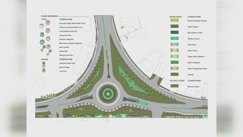Panama City Beach is currently working on building a roundabout near the intersection of...