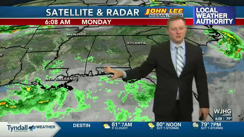 Meteorologist Ryan Michaels says more rain is in store for NWFL today.