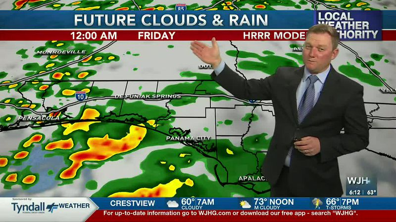 Meteorologist Ryan Michaels says rain chances go on the rise after midnight tonight.