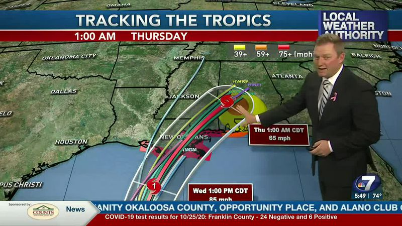 Meteorologist Ryan Michaels talks about the low end impacts NWFL receives from Zeta.