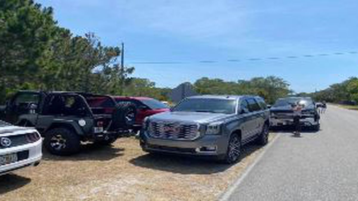 Cars were blocking in other cars over the weekend, and people were fighting over parking spaces.