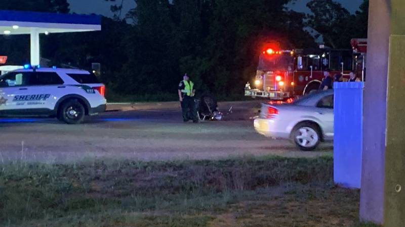 A car versus motorcycle accident left one person with injuries in Panama City Beach Saturday...